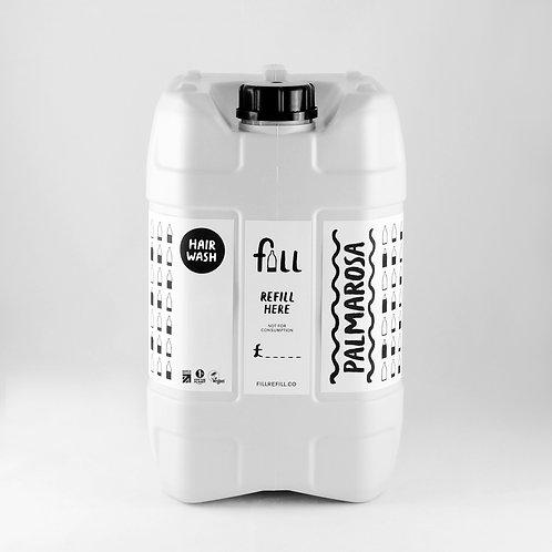 FILL Palmarosa Hair Wash 500ml in Glass Bottle  (£1.40/100g)