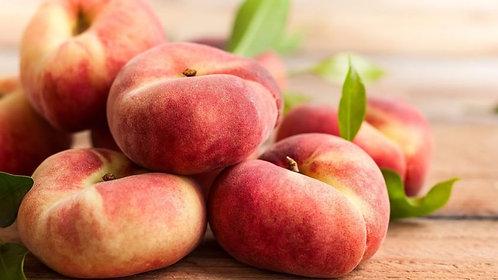 Organic Spanish Flat Peach (each) (£0.97/100g))