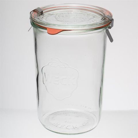 Weck Jar 850ml + rubber seal and clips - 450g