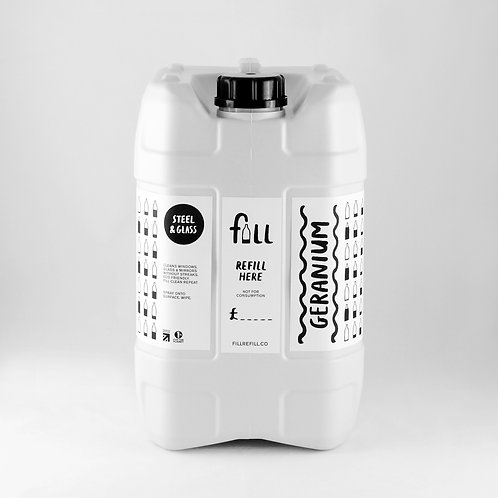 FILL Steel & Glass Cleaner in Glass Bottle 1kg | Unscented (£0.50/100g)