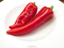 Organic Red Pepper Ramiro - each  (£0.75/100g)