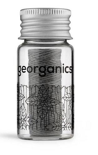 GEORGANICS Natural Cornstarch Floss - Activated Charcoal