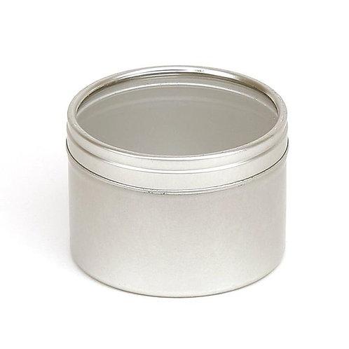 Round Seamless Slip Lid Tin with Window