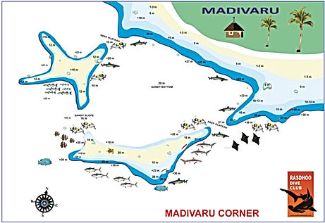 Mapa Madivaru corner