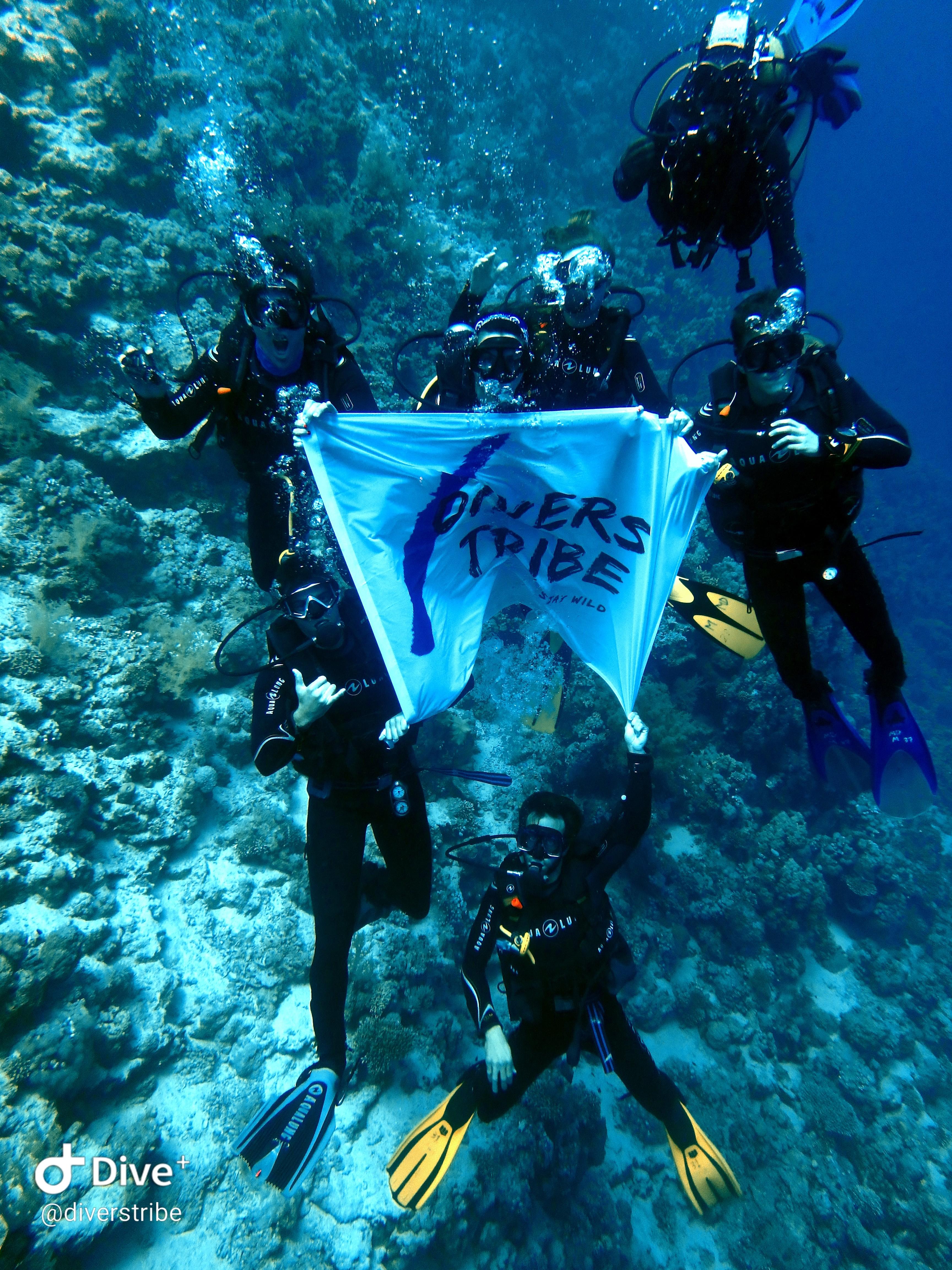 bandera bajo el agua