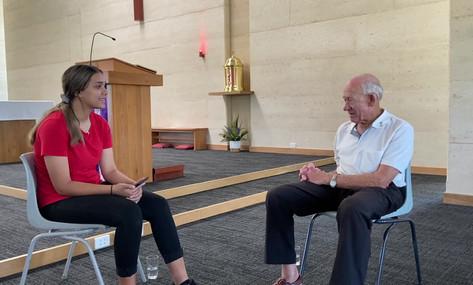 Danielle interviews Fr Geoff