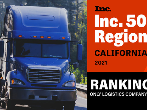 Legacy Logistics USA Ranks #9 on Inc 5000 Fastest-Growing Private Companies in California 2021.