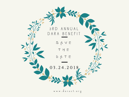 Save the Date! DARA's Spring Benefit 2018