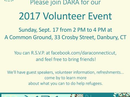 DARA's 2017 New Volunteers Meeting
