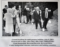 Ground Breaking July 8, 2001