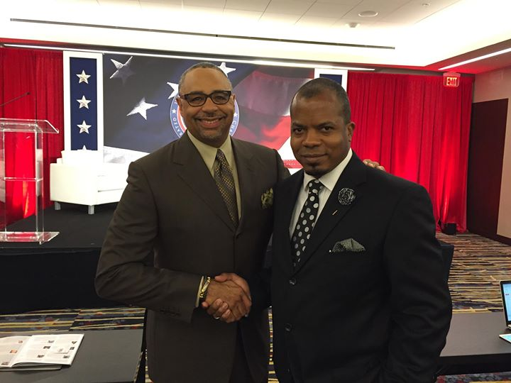 Nice time meeting journalist Mr.jpg Ed Gordon at the US Black Chambers Inc School of Chamber & Busin