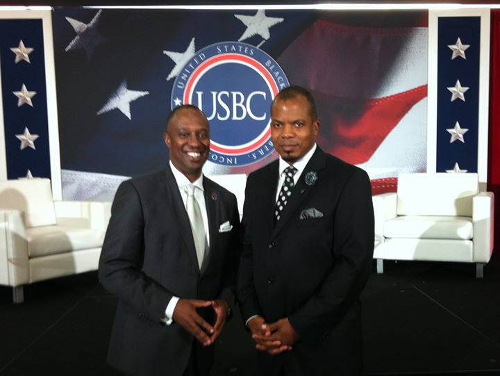 With the President of US Black Chambers Mr Ron Busby