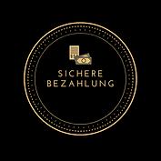 Schwarz und Gold Kreis Immobilien Logo (
