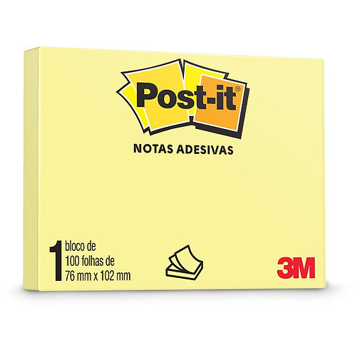 Bloco Post-It® 3M 72x102mm 90fls
