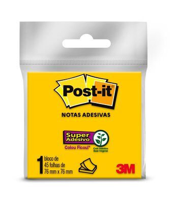 Bloco Post-it® 3M 76 mm x 76 mm - 45 Ffs