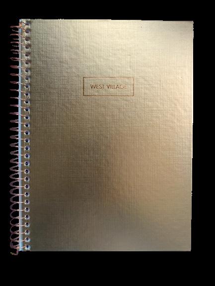 Caderno TILIBRA Espiral Colegial West Village Metalizado 80fls
