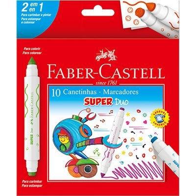 Caneta FABER CASTELL Hidrográfica 10 cores Ponta Duo