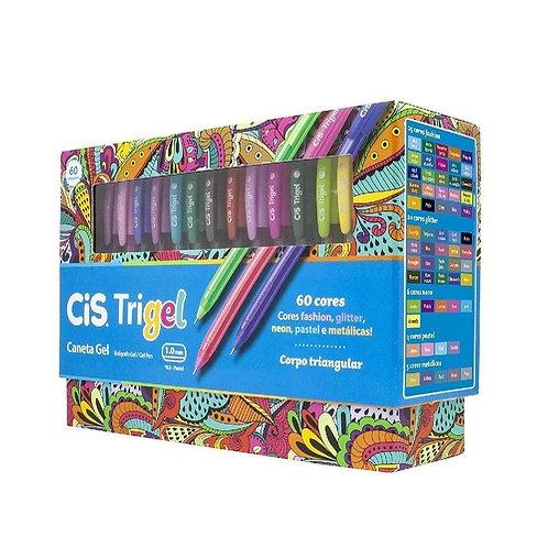 Caneta CIS Trigel 60 Cores