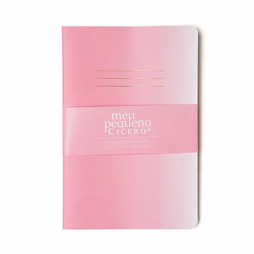 Caderneta Meu Pequeno CICERO Pastel 14x21 - Degradê - Sem Pauta