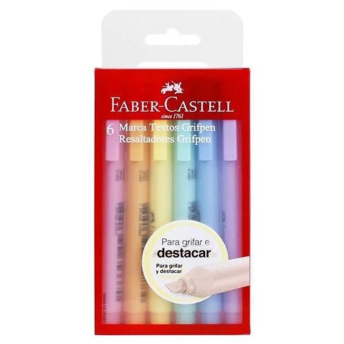 Marca Texto FABER CASTELL  Grifpen Pastel 6un.