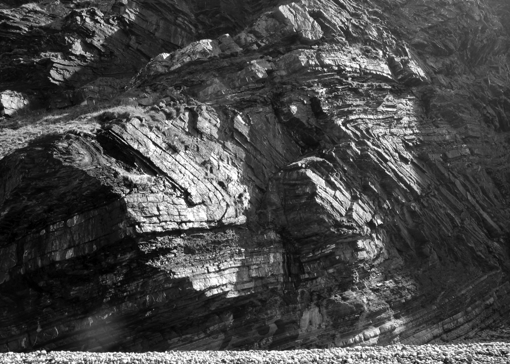 Folded strata, North Somerset, UK