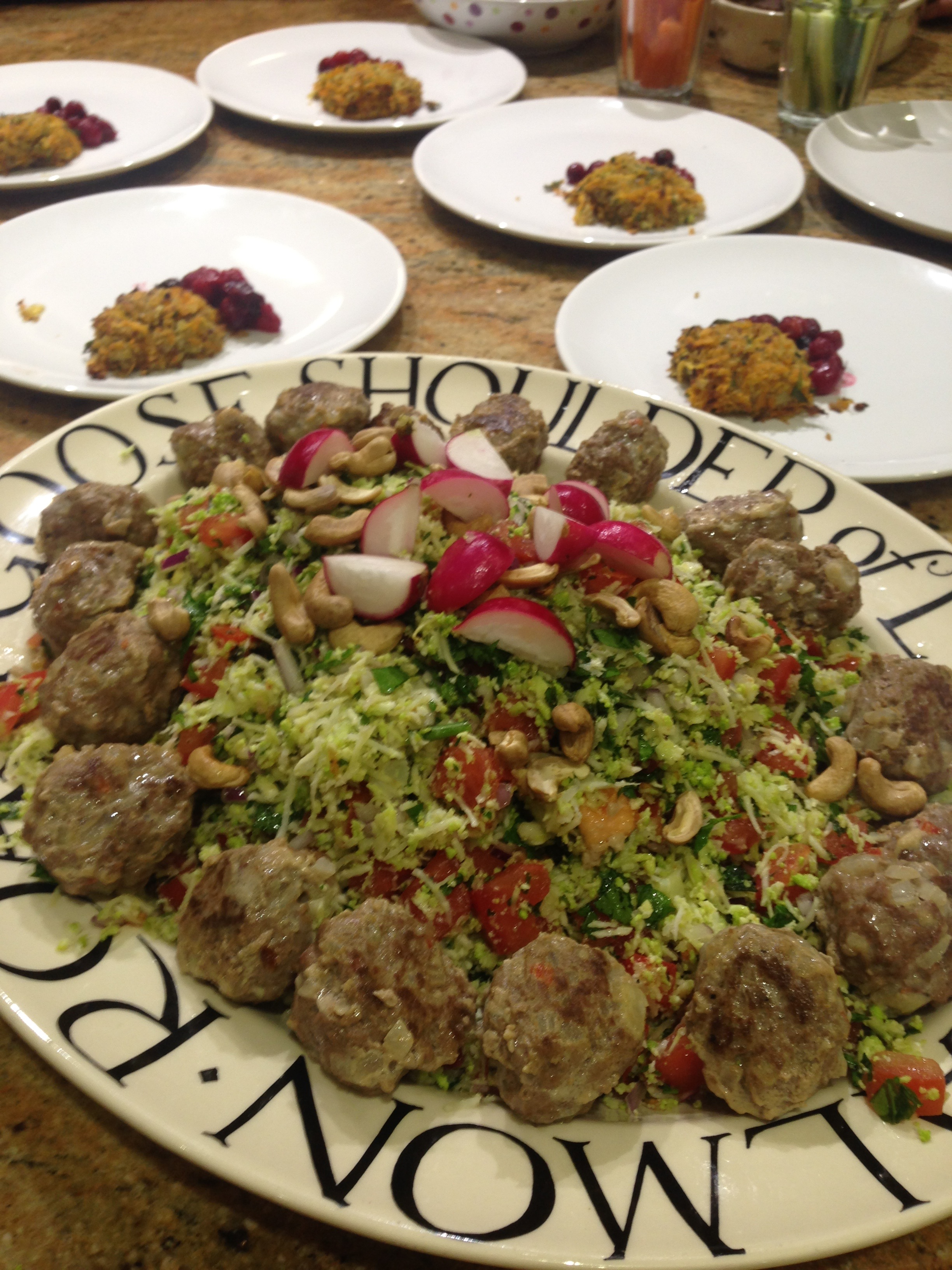 Lamb Meatballs with Roast Romanesco