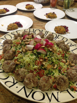 Lamb Meatballs with Roast Romanesco