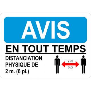 Affiche_Avis en tout temps distanciation