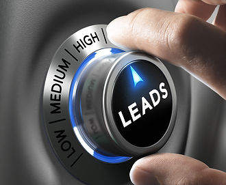 Leads button pointing  high position wit