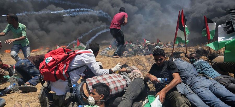 Протесты на границе с Газой