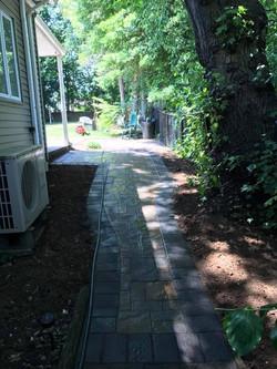 Walkway with Gray Border