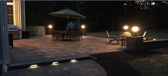 Lit up Patio