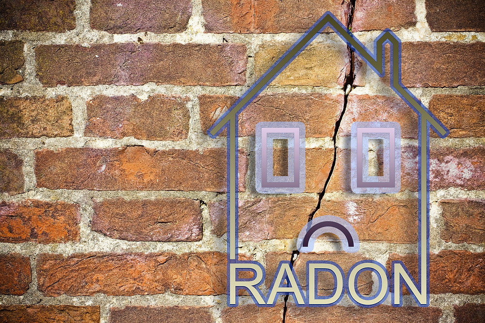 Radon gas enters through cracks and other openings in a home's foundation.