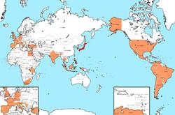 仕事で飛び回った国々38カ国72都市