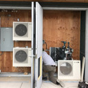 Louvered Outdoor Utility Room Installati