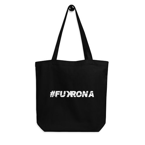 #FUKRONA - White On Black Eco Tote