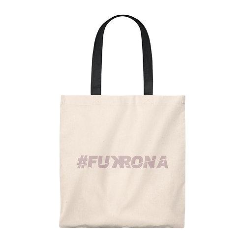 #FUKRONA - Pink On Tan Eco Tote Small