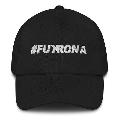#FUKRONA - Dad Hat - White on Black