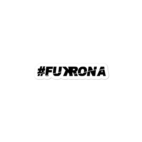 #FUKRONA Sticker Black
