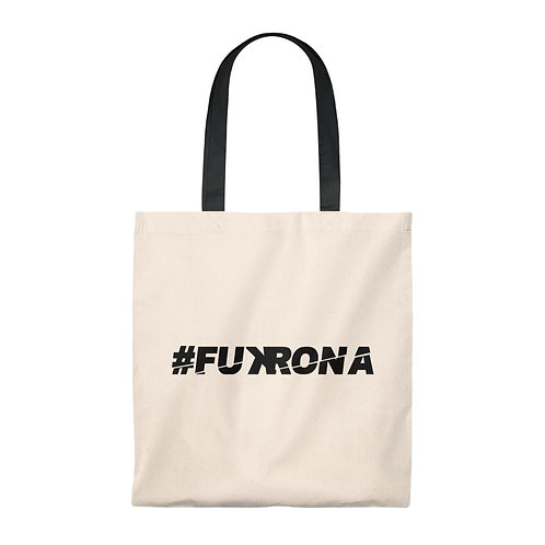 #FUKRONA - Black On Tan Eco Tote Small