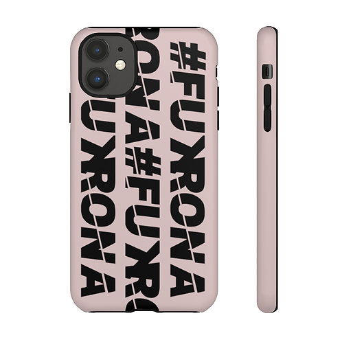 #FUKRONA Super Tough Dual Layer Case - Black On Pink