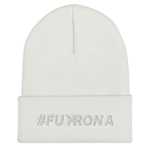 #FUKRONA Cuffed Bean - White on White