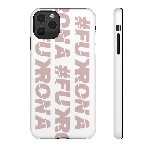 #FUKRONA Super Tough Dual Layer Case - Pink On White