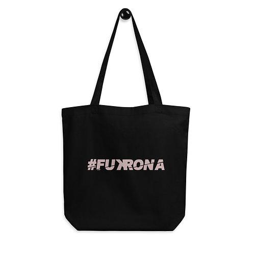 #FUKRONA - Pink On Black Eco Tote