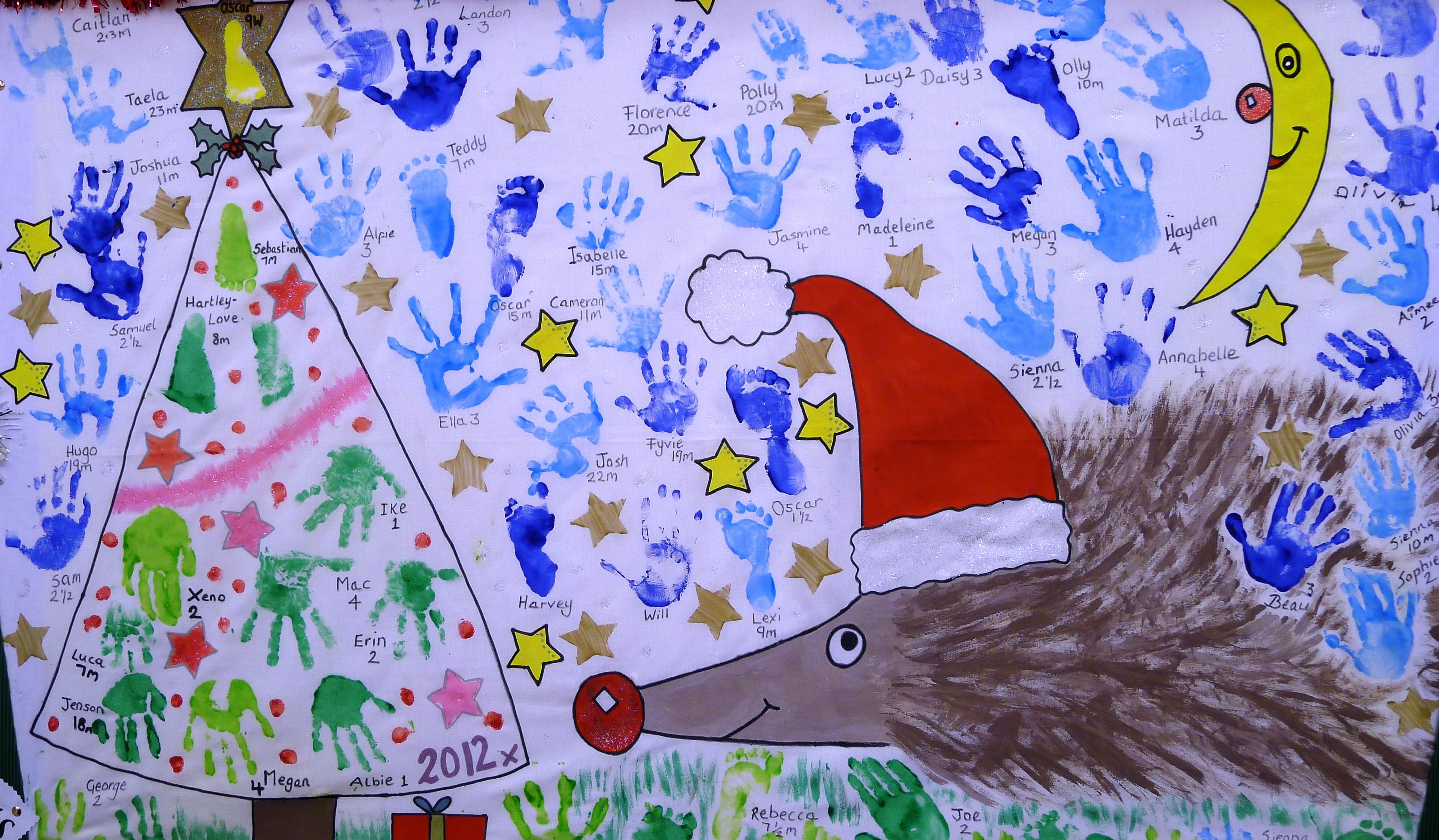 Christmas hand display