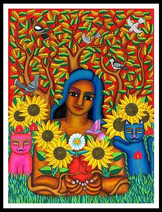 Ña'an yuku ita/ Mujer jardín