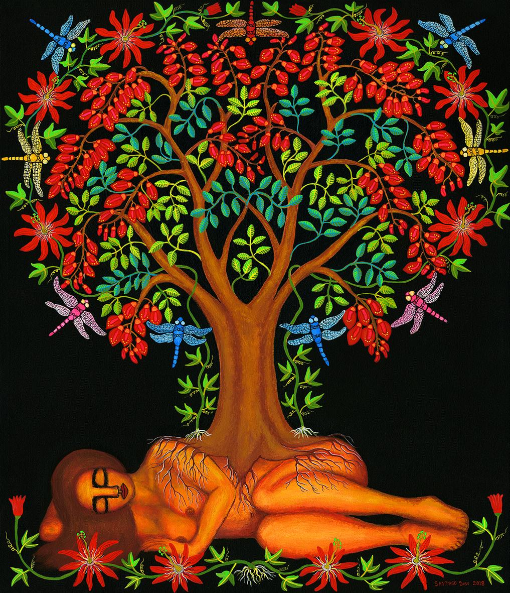 Madre tierra y el árbol de ceibo