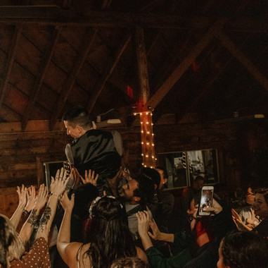 the groom crowd surfing