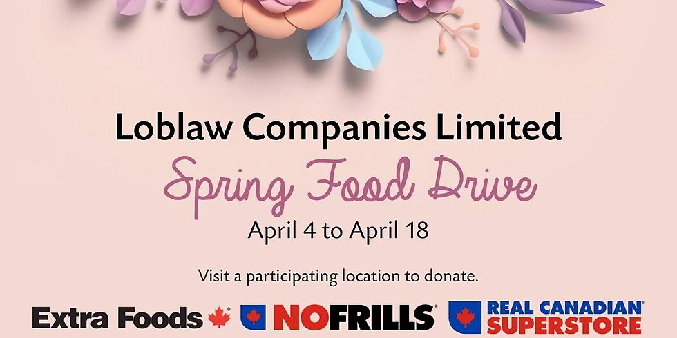 Loblaw Companies Spring Food Drive