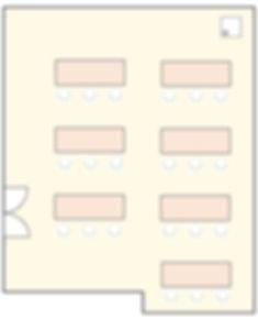 貸会議室 office+ スクール形式配置